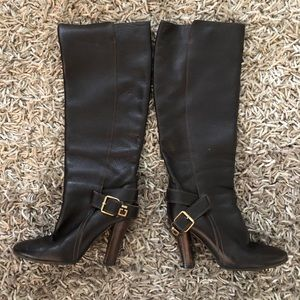 CHLOE Tall Brown Leather Boot